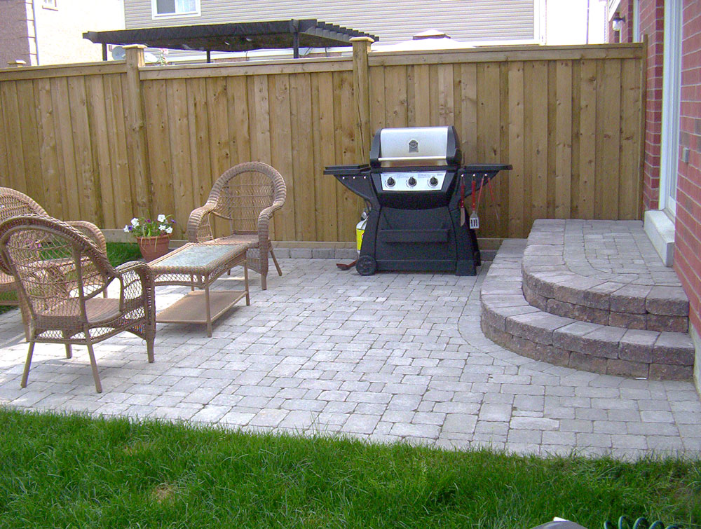 Patio Design The Use Of Pavers - Europeanization: Outside Patio Ideas For Small Backyards