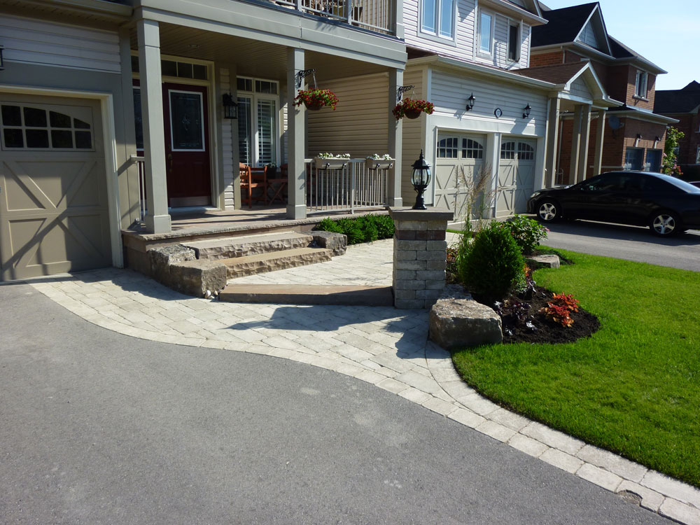 front entrance landscaping front yard landscaping interlocking brick