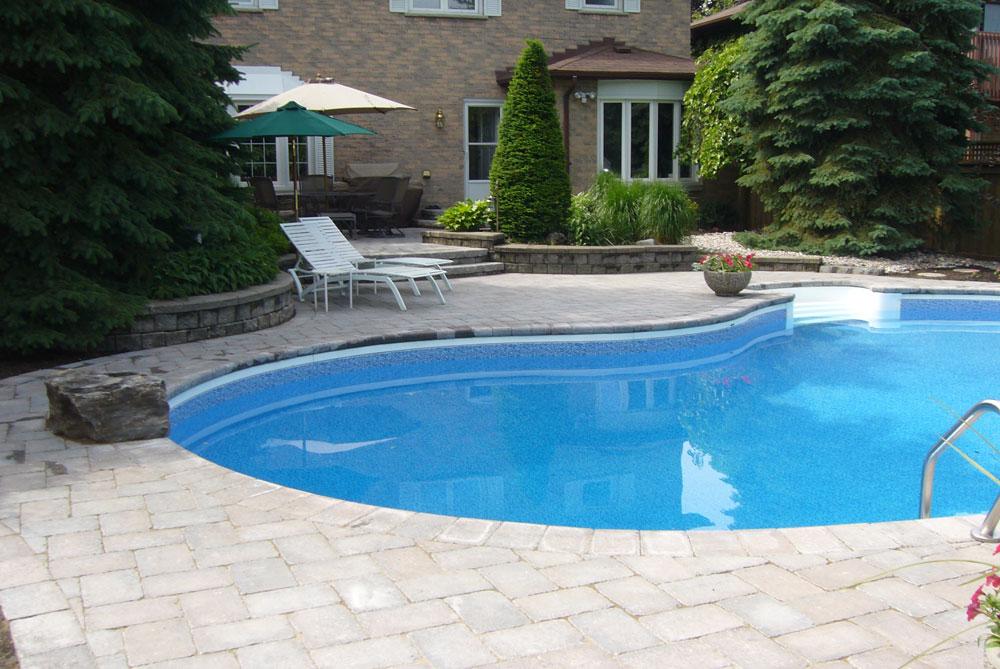 Pool Side Landscape Samples Durham Whitby Oshawa